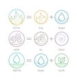 Ayurveda with flat thin icons vector image vector image