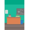 Background of classroom vector image