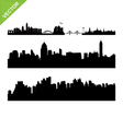 Bangkok landmark and skyline silhouettes vector image