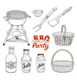 bbq accessories isolated vector image