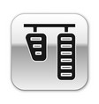 black car gas and brake pedals icon isolated vector image vector image