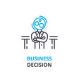 business decision concept outline icon linear vector image vector image