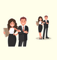business people couple of office workers vector image vector image