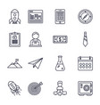 business startup success icons set thick line vector image vector image