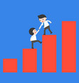 businessman help another businessman to climb a vector image