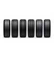 car tire wheel isolated car tyre vector image vector image