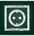Chalk icon on green board vector image