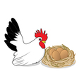 Chicken and eggs vector image vector image