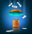 creative background for business with an umbrella vector image vector image