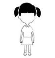cute and little girl vector image vector image