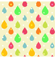 Cute seamless pattern of colorful drops vector image