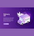 delivery truck service landing vector image vector image
