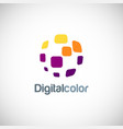 digital color square logo vector image vector image
