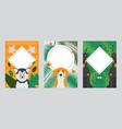 dog banners pet card template animal cartoon vector image vector image
