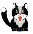 Drawing of the nice cat on white vector image vector image