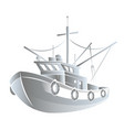 fishing boat concept vector image vector image