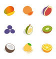 food icons isometric 3d style vector image