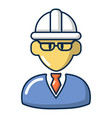foreman icon cartoon style vector image