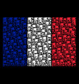 france flag collage of flag icons vector image