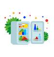 fridge full of food vector image