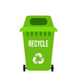 green recycle garbage bin vector image