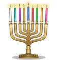 Hanukkah Lamp Hanukkiah vector image vector image