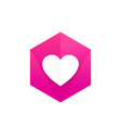 heart icon badge vector image vector image