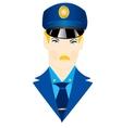 Icon police vector image vector image