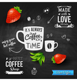 It is coffee time Chalkboard background realistic vector image vector image