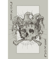 Joker Skeleton vector image vector image