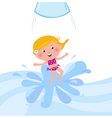 kid jumping from water tube vector image vector image