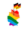 lgbt germany map of deutschland and flag european vector image vector image