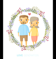 Love generation greeting card 3 vector image