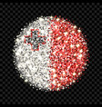 malta flag sparkling badge vector image vector image