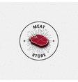 Meat store badges logos and labels for any use vector image vector image