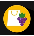 package buying fruit grape fresh icon vector image vector image