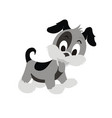 puppy dog cartoon character ii vector image vector image