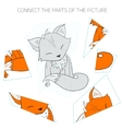 Puzzle game for children fox vector image vector image