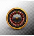 roulette wheel casino fortune gold spin vector image vector image