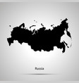 russia country map simple black silhouette vector image vector image