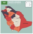 Saudi Arabia map with selectable territories vector image vector image