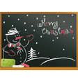 school blackboard with snowman vector image