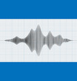 seismograph diagram graph of earthquake on paper vector image vector image