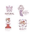 set 4 emblems for beauty salon or shop vector image vector image