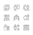 set line icons meeting vector image vector image