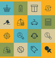 set of 16 e-commerce icons includes recurring vector image vector image
