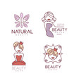 Set of 4 emblems for beauty salon or shop