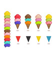 set of simple icons for gelato cafe isolated on vector image