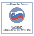 Slovenia Independence and Unity vector image vector image