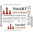Smart solutions seamless pattern with management vector image vector image